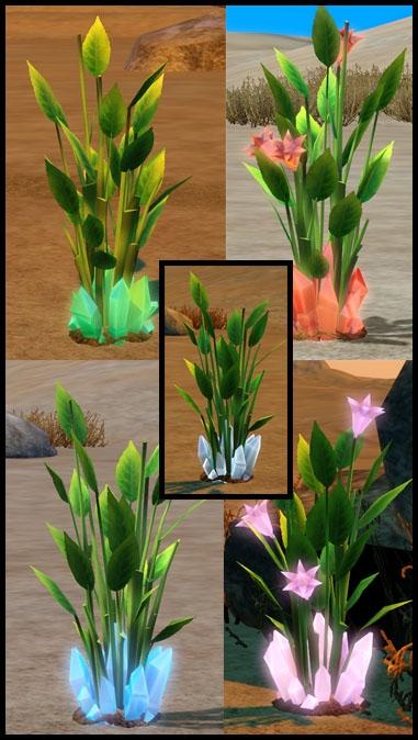 en route vers le futur fleur de cristal différentes couleurs