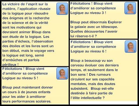 5 sims 3 competence logique message niveau