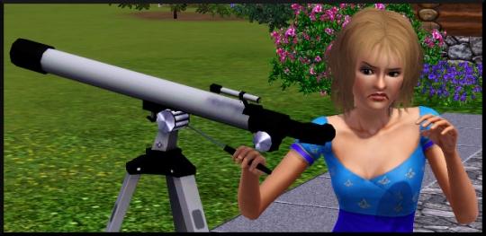 11 sims 3 competence logique regarder telescope degout