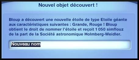 16 sims 3 competence logique telescope decouvrir etoile planete comete corps celeste nommer
