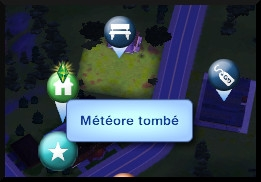 21 sims 3 competence logique telescope meteore tombee indication carte