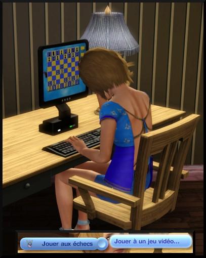 28 sims 3 competence logique jouer echec ordinateur