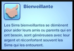 12 sims 3 generalite trait personnalite bienveillant