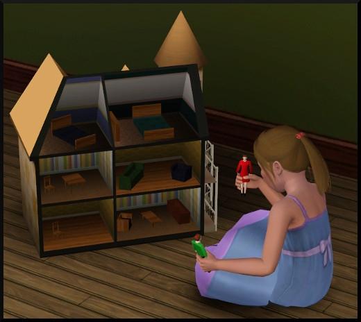49 sims 3 generalite enfant qui joue maison poupée