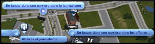 2 sims 3 carriere journalisme affaires interaction se lancer dans carriere