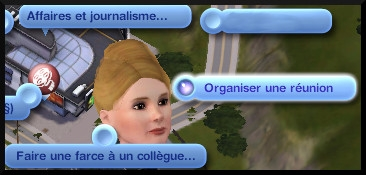 22 sims 3 carriere journalisme affaires interaction organiser reunion