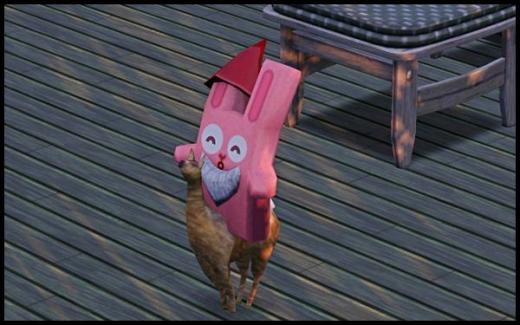 sims 3 gnome magique lapin rose animaux et cie