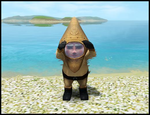 sims 3 gnome magique ile de reve Nain de Jardin M. Marin