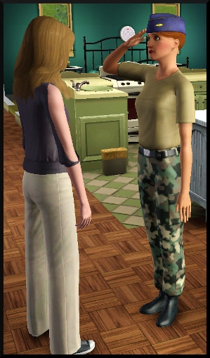11 sims 3 carriere sportif militaire salut militaire