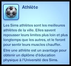 15 sims 3 carriere sportif militaire caractere athlétisme