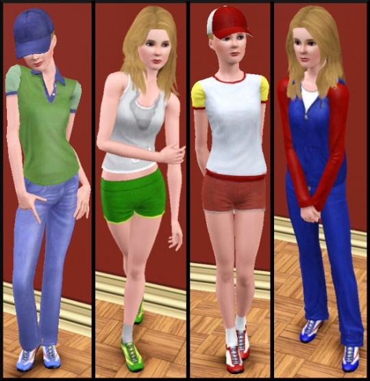 21 sims 3 carriere sportif militaire tenues 1