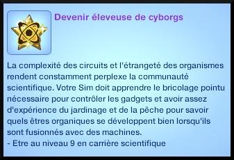 2 sims 3 carriere scientifique medecine souhait long terme eleveur cyborgs