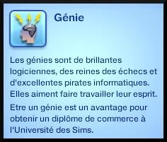 23 sims 3 carriere scientifique medecine trait caractere genie