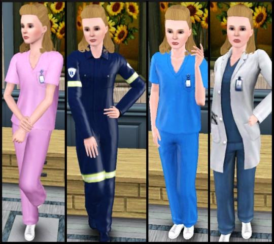 29 sims 3 carriere scientifique medecine tenues 1
