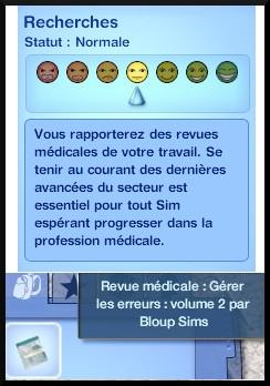 31 sims 3 carriere scientifique medecine recherche revues medicales