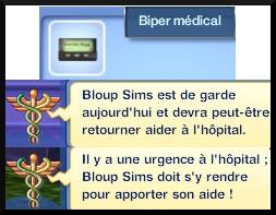 33 sims 3 carriere scientifique medecine garde bipper medical