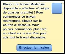 39 sims 3 carriere scientifique medecine ambitions missions message