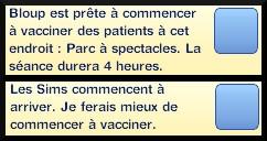45 sims 3 carriere scientifique medecine ambitions clinique vaccination messages