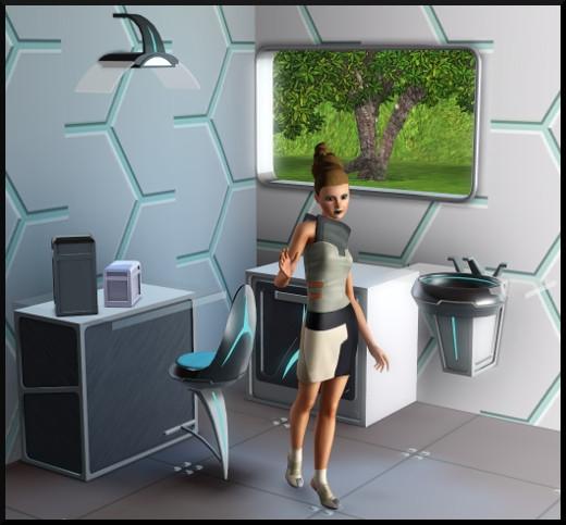 2 sims 3 store choc du futur Cuisine lavabo fenetre