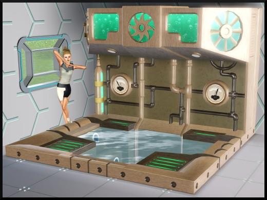 3 sims 3 store choc du futur Salon bain à remous jacuzzi