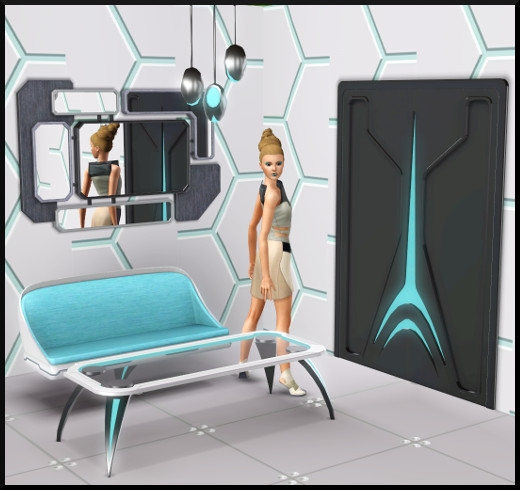 4 sims 3 store choc du futur Salon porte miroir