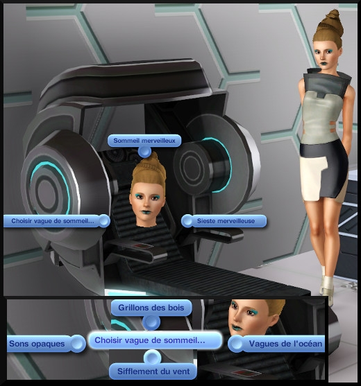9 sims 3 store choc du futur chambre Super couchette Simchic interactions