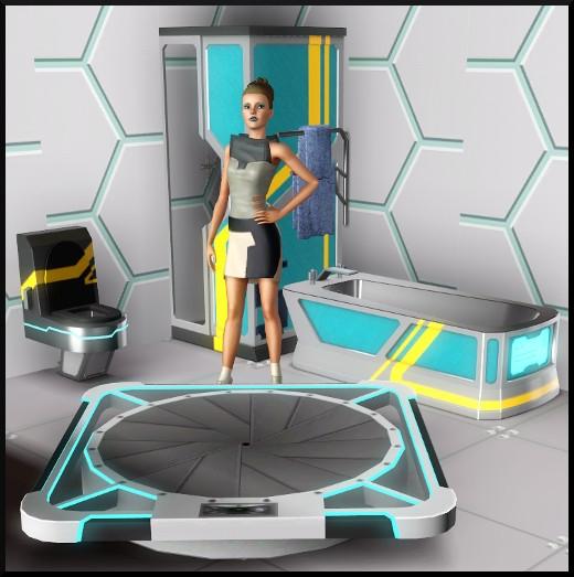 13 sims 3 store choc du futur loft Série Ultime frontière baignoire toilettes