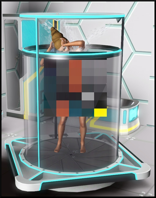 17 sims 3 store choc du futur loft Série Ultime frontière Machine anti-routine action douche