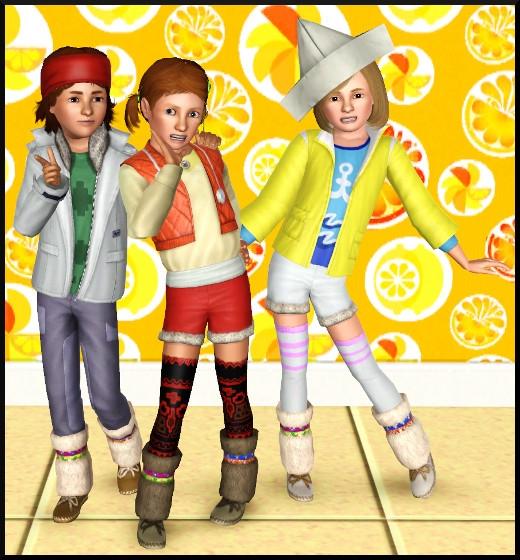2 sims 3 store collection pour enfants