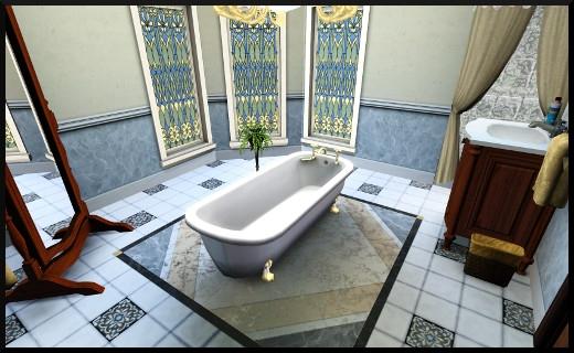26 1 sims 3 store le manoir centenaire maintenant et autrefois salle de bain