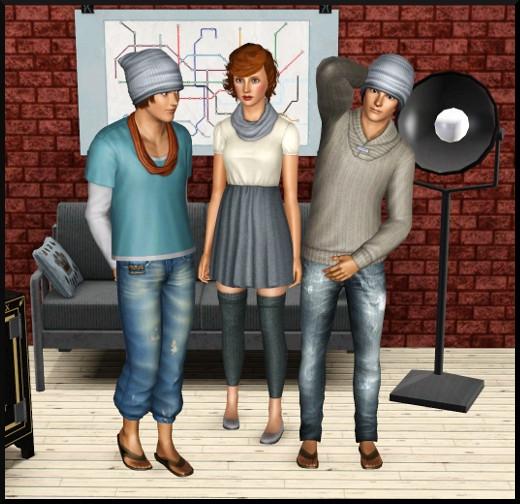 3 sims 3 store loft grain de cafe tenues