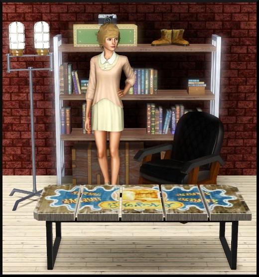 4 sims 3 store loft grain de cafe objets