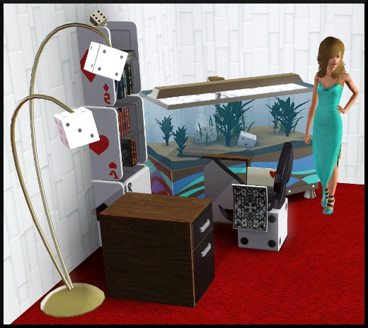 7 sims 3 store chambre viva las vegas aquarium