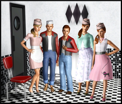 1 sims 3 store vive les fifties rebellion vetements