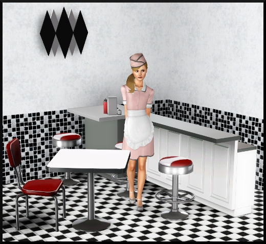 3 sims 3 store vive les fifties Kit de démarrage Petit restaurant chez Hogan meubles