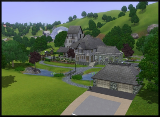2 sims 3 sunset valley gothik maison