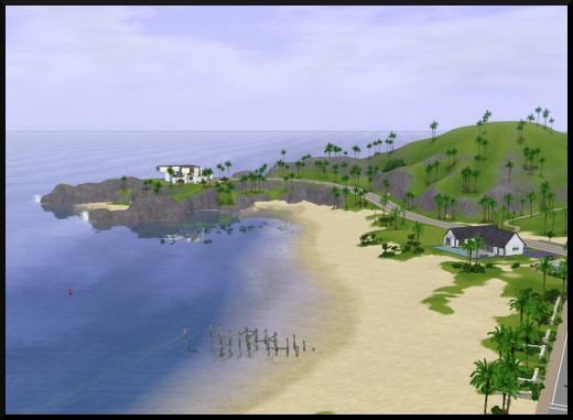 4 sims 3 sunset valley vue plage