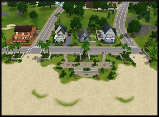 6 sims 3 sunset valley vue plage amenagee