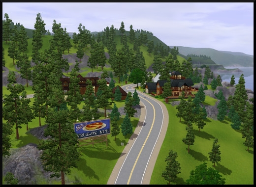 7 sims 3 sunset valley vue montagne