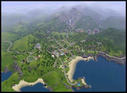 14 sims 3 sunset valley vue ciel