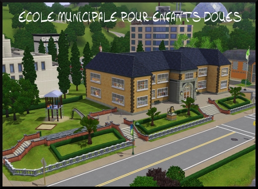 18 sims 3 sunset valley ecole municipale enfants doues