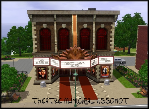 19 sims 3 sunset valley theatre municipal vissinot