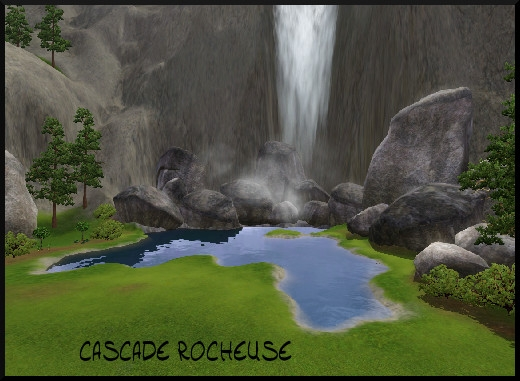 25 sims 3 sunset valley cascade rocheuse