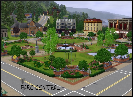 29 sims 3 sunset valley parc central