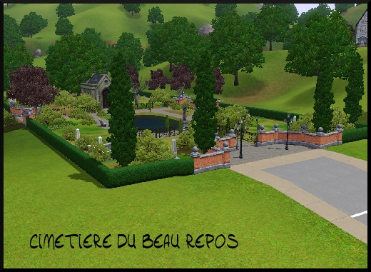 30 sims 3 sunset valley cimetiere du beau repos