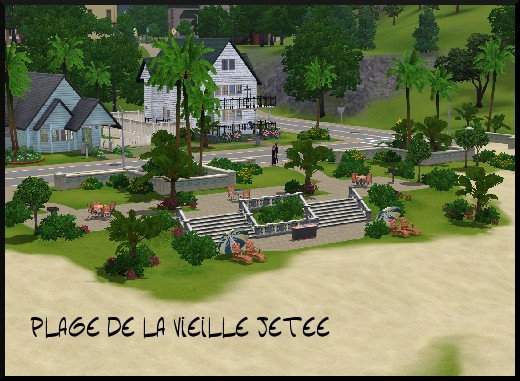 35 sims 3 sunset valley plage jetee