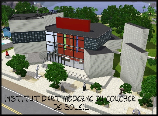 37 sims 3 sunset valley institut art moderne coucher soleil