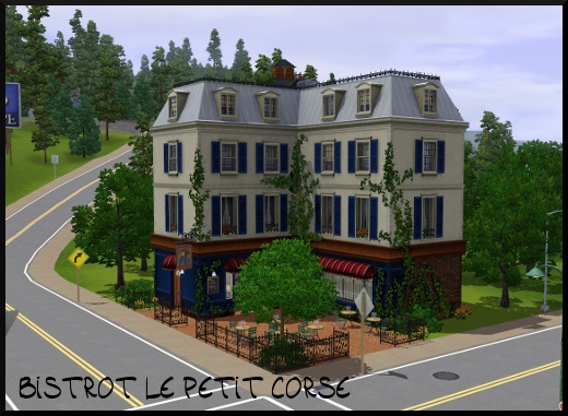 41 sims 3 sunset valley bistrot petit corse