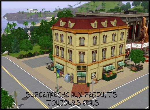 42 sims 3 sunset valley supermarche produits toujours frais