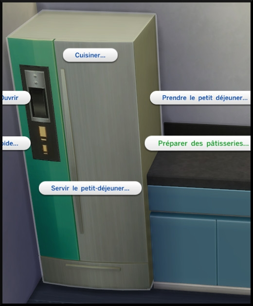 2 sims 4 au travail competence patisserie frigo interaction